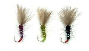 3 CDC SHUTTLECOCK Emerger Flies Dry MIDGE Pupa Trout Fly Fishing Size  10,12,14   eBay